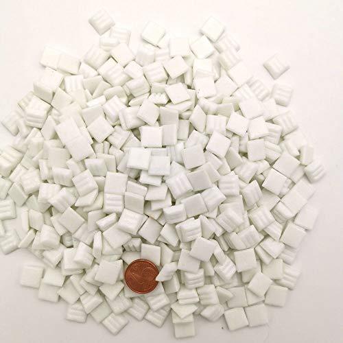 Armena - Pietra a Mosaico Bianca, 300 g, 1 x 1 cm, Circa 420 Pezzi (2 x 150 g Pet Box)