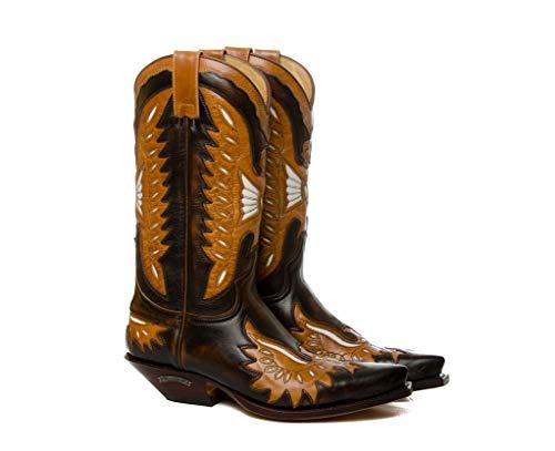 Sendra Boots Western laarzen 6990 Rabe Natuur Antic Hyacint bruin