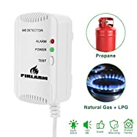 Detector de Gas, Alarma de Gas LPG/Gas Natural/Ciudad, Monitor de Gas butano ...