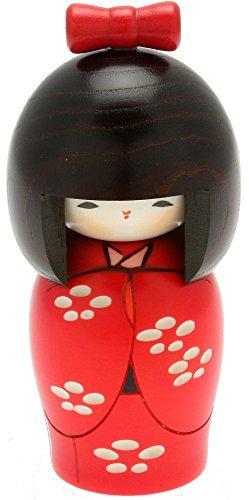 Usaburo Japanese Kokeshi Doll, Yuki's Red Kimono by Usaburo