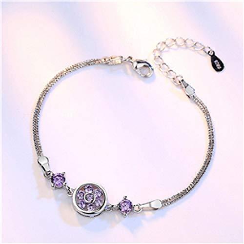 Jewellery Bracelets Bangle For Womens 925 Sterling Silver Woman Fashion Jewelry Ladies Bracelets Round Simple Original Cute Little Ornaments 16+3.5Cm 1033