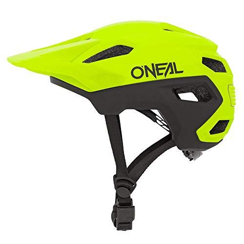 O'NEAL | Mountainbike-Helm | MTB All-Mountain | Lüftungsöffnungen zur Belüftung & Kühlung, Größenverstellsystem, Sicherheitsnorm EN1078 | Trailfinder Helmet Split | Erwachsene | Neon-Gelb | Größe L/XL
