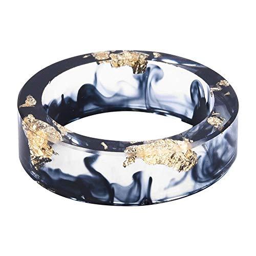 Vektenxi Handgemachter Ring Fingerring Elegante Ringe Harzringe Unisex-Schmuck Kreative Ringe Langlebig und praktisch