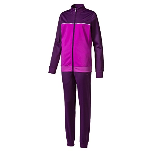 PUMA Kinder Trainingsanzug Fun Poly Suit Closed G, Imperial Purple/Purple Cactus Flower/White, 176