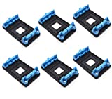 Antrader 6-Pack Plastic AMD CPU Fan Bracket Base for AM2 AM2+ AM3 AM3+ FM1 FM2 Socket, Blue