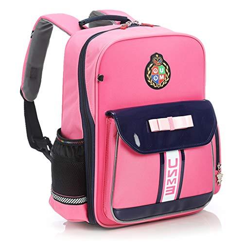 YL BAG Mochila Escolar Gráfica Bonita Mochila Escolar For Niñas Reforzado Impermeable For Niñas Casual Mochila Esencial (Color : Pink)