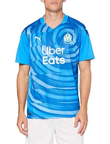 PUMA Om Third Shirt Replica with Sponsor T-Shirt Homme Bleu Azur/Vallarta Blue FR : M (Taille Fabricant : M)