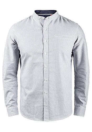 Blend Dubbal Herren Hemd Langarmhemd Freizeithemd mit Stehkragen, Größe:XL, Farbe:India Ink (70151)