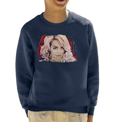 VINTRO Sidney Maurer Original Portrait of Rita Ora Pink Hair Kid's Sweatshirt