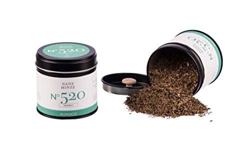 Bio Nane Minze N°520 - getrocknete Minzblätter, frisch, würzig & intensiv, in eleganter Gewürzdose mit doppeltem Aromadeckel, Inhalt: 30g