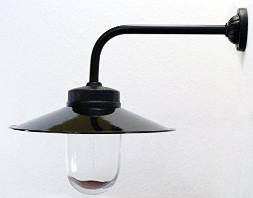 Außenleuchte nach historischem Modell Gartenlampe Hoflampe Außenlampe Landhausstil Modell Rottach schwarz