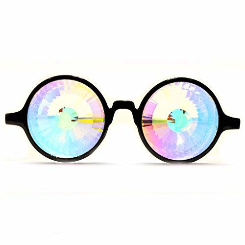 nero vedono Amore cuori EDM rave occhiali GloFX Cuore effetto occhiali diffrazione