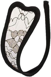 Perfk 女性 下着 メッシュ柄 レディース セクシー Cストリング 金黒色 白い 全2色選べ