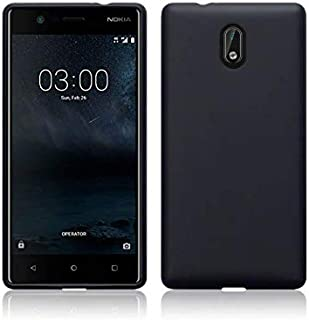 Phonest TPU Rubber Skin Case For Nokia 3 Black Jelly