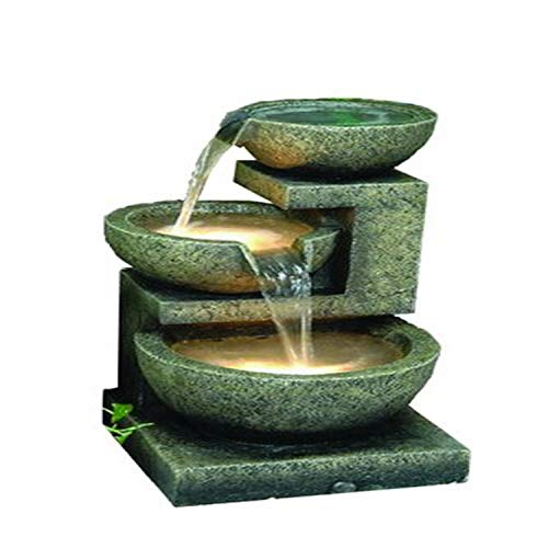 Hi-Line Gift Ltd 3-Bowl Fountain with 2 Lights
