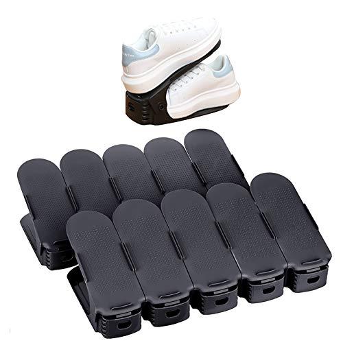 AllRight 10 STK. Verstellbarer Schuhregal Schuhstapler schuhaufbewahrung Schuhhalter Schuh