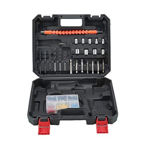 PPLAS Destornillador eléctrico Establecido 12V 36V Potencia 16,8V Herramienta 25 Kit de Herramientas Taladro inalámbrico (Color : 12V 25 Kit Toolbox)