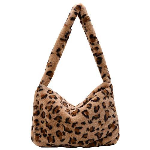 Petoske Furry handbag crossbody Bag ,Large capacity fluffy plush handbags, Casual bags female tote bag