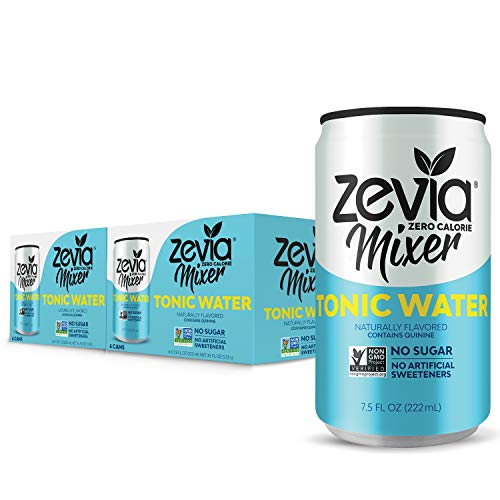 Zevia Tonic Water, 7.5oz (Pack of 12), Zero Calories, Zero Sugar Take on the Traditional Carbonated Tonic Water, A Perfect Drink Mixer