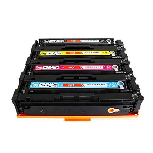 GSCCC Cartucho de tóner CF400A, Cartucho de tóner de Impresora HP M252dw M277n 277dw 252N 201A Compatible, Juego de 4 Colores, se Puede Utilizar inmediatamente después de la instalación