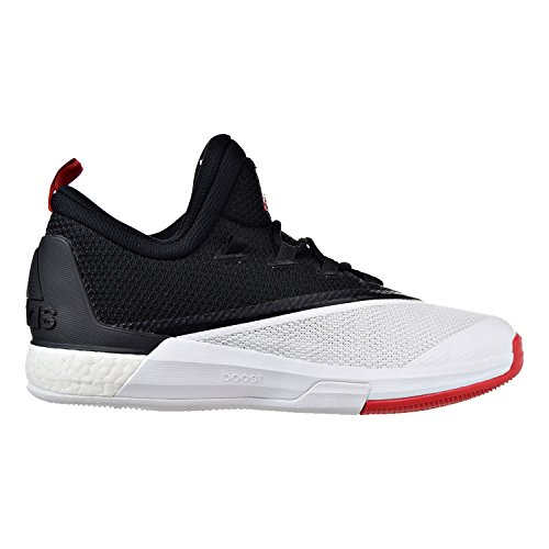 adidas Performance Men's Crazylight Boost 2.5 Low Harden PE Basketball Shoe (9, Black/Scarlet/White)