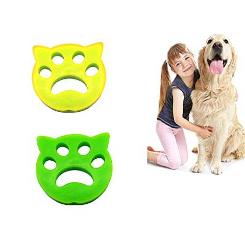 GYBN 2PCS Pet Hair Remover for Laundry, Animal Hair Removal Tool, Dryer Hair Catcher Dog Cat Pet Fur Remover, The Laundry Lint and Fur Remover, Perfect for Furniture, Couch, Carpet, Car Seat