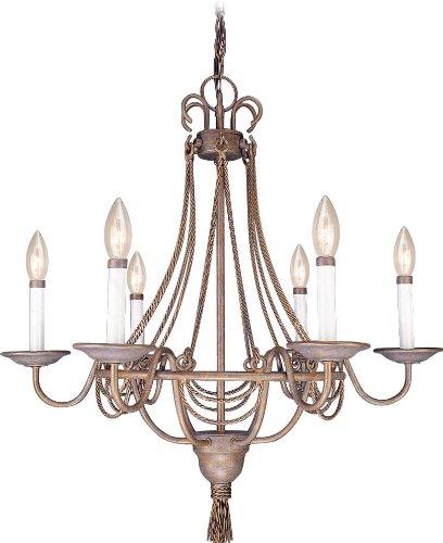 Justice Design Group Lighting POR-8420-15-WFAL-MBLK-LED4-2800 Limoges-Tetra 4-Light Chandelier-Square w//Flat Rim Shade-Matte Black-Waterfall-LED