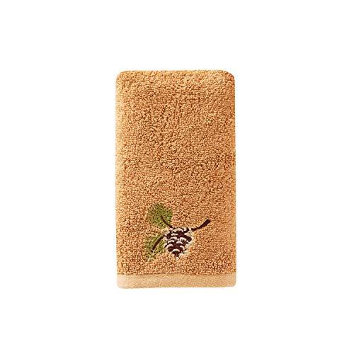 SKL HOME by Saturday Knight Ltd. M1186300800403 Pinehaven Fingertip Towel, Wheat