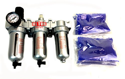 NEW 1/2' Compressed Air Filter Regulator/Desiccant Dryer/Coalescing Filter 3 Stages Combo