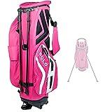 JUNZ Sac de Golf Trepied pour Femme,Sac de Dimanche de Golf,Sac de Chariot de Golf Portable, Facile à Transporter,Gain de Place, Rose