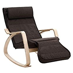 330 LB Reclining Rocker Chair For Outdoors