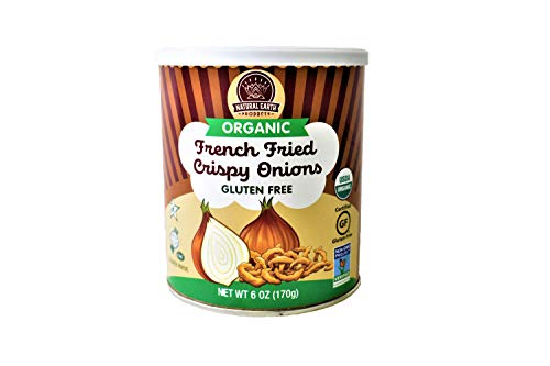 Organic French Fried Crispy Onions - Kosher, Vegan, Gluten-Free, NON-GMO, USDA Organic - 6 Oz (1 Pack Total of 6 Oz)