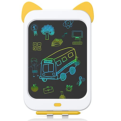 Zotarry LCD Writing Tablet 10 Inch Drawing Pad, Colorful Screen Doodle Board for Toddlers, Educational and Learning Kids Toys for 3 4 5 6 7 8 Year Old Boys and Girls
