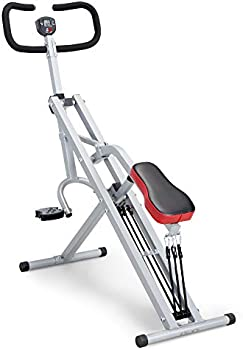 Marcy Squat Rider Machine Row-N-Ride Bench for Glutes and Quads Workout
