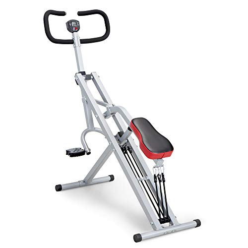 Marcy Squat Rider Machine Row-N-Ride Bench for Glutes and Quads Workout XJ-6334, White/Black