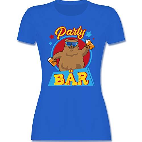 Karneval & Fasching - Party Bär - XXL - Royalblau - Karneval - L191 - Tailliertes Tshirt für Damen und Frauen T-Shirt