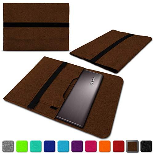 NAUC Lenovo Thinkpad Yoga 370 Tasche Hülle Filz Sleeve Case Schutzhülle Notebook Cover, Farben:Braun