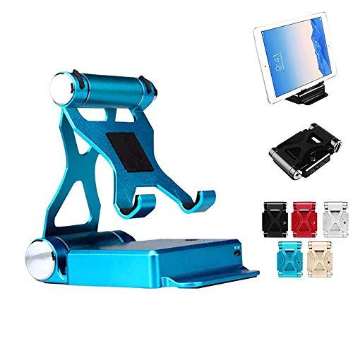 KawKaw Tablet-und Handy-Halterung mit integrierter 10400 mAh Powerbank: 2-in-1 Schreibtisch-Organizer und Ladegerät (Blau)