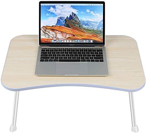 Burhetten Escritorio plegable para computadora portátil de pie para cama sofá portátil plegable desayuno servir bandeja de café soporte portátil cama mesa desayuno bandeja