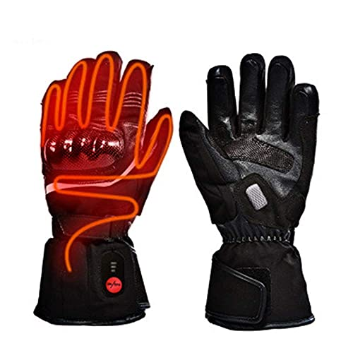 QMJHHW Heated Gloves for Men Women, Electric Rechargeable Battery Warm Thermal Snow Gloves Touch Screen Heating Control Hand Warmer