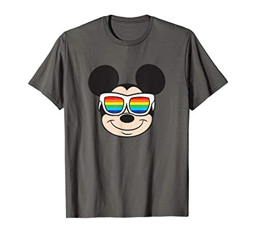 T-Shirt Mickey Mouse Rainbow Sunglasses