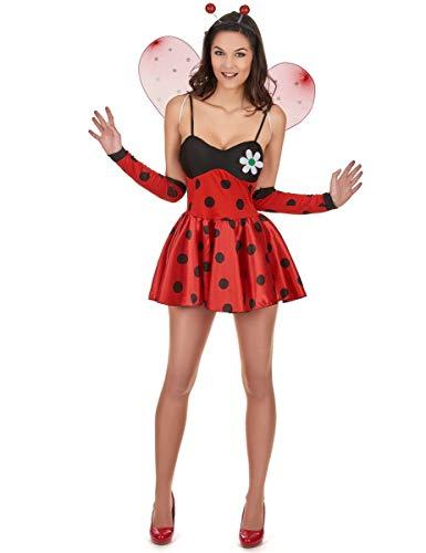 Generique - Sexy Marienkäfer-Kostüm für Damen schwarz-rot M / L