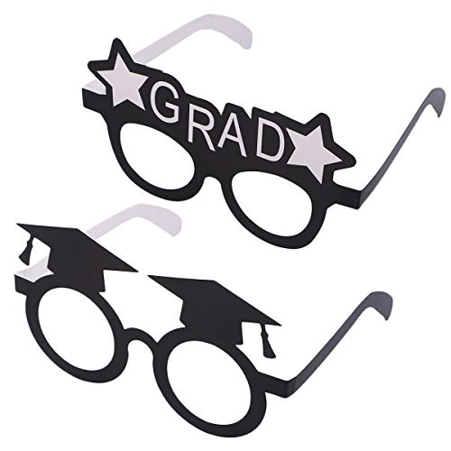 Amosfun Graduation Hut Brille Eyewears Papier Photo Booth Props 2019 Grad Partydekorationen 16 Stücke