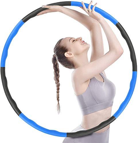 FanIce Hula Reifen Hoop, Benutzt für Gewichtsreduktion und Massage, Hullahub Reifen Erwachsene, 6-8 Segmente Abnehmbarer Hula Reifen Hoop, Slim Hoop,Suitable for Abnehmen, Belly Shaping