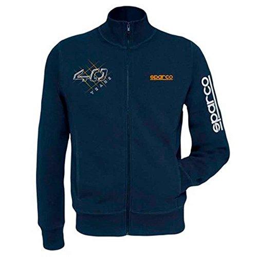 Sparco 01228BM1S Modern Sweatshirt Tg. Marineblau S, Navy Blue, S