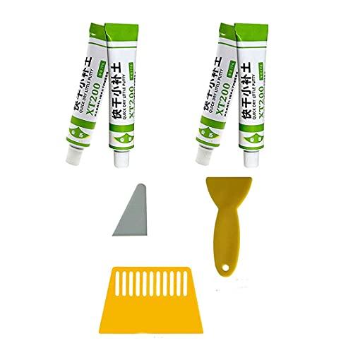 Pasta de reparación de barcos de fibra de vidrio Instafix Xt 200, pintura de masilla impermeable de secado rápido, kit de pasta para eliminar arañazos de coche (negro, 4 PIEZAS)