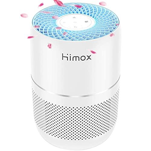 HIMOX Luftreiniger Allergie für Raucherzimmer, Air Purifier mit True HEPA-Luftfilter, CADR 160m³/h und 40㎡, mit H13 HEPA Aktivkohlefilter gegen Staub, Rauch, Gerüche, Allergien, Pollen und Pet Dander