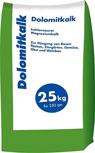 Hamann Mercatus GmbH Dolomitkalk Rasenkalk-Zur Vorbeugung von Moosbildung im Rasen mit Calcium und viel Magnesium 25 kg