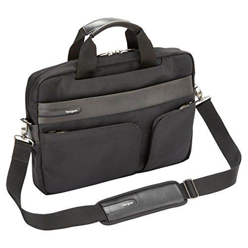 Targus Lomax Ultrabook 13.3-Inch Topload Business Commuter Laptop Case and Messenger Bag, Black (TBT236EU)