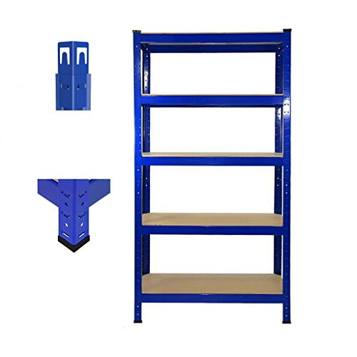 180cm x 90cm x 40cm, Blue 5 Tier (175KG Per Shelf), 875KG Capacity Garage Shed Storage Shelving Units